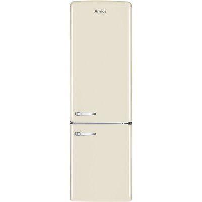 Amica FKR29653C Retro Style 60/40 250L Freestanding Fridge Freezer - Cream