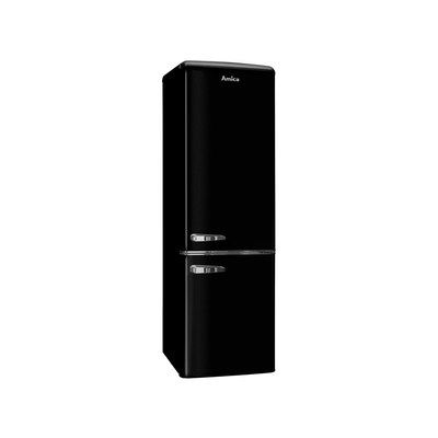 Amica FKR29653B 244 Litre Freestanding Fridge Freezer Retro 70/30 Split A+ Energy Rating 55cm Wide - Black