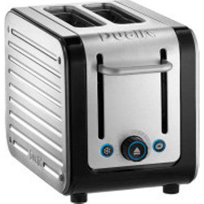 Dualit Architect 2 Slot Toaster - Brushed Steel and Black