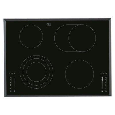 AEG HK764070FB Bevelled Edge 72cm Touch Control Ceramic Hob - Black
