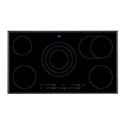 AEG HK955070FB Touch Control 90cm Wide Ceramic Hob - Black