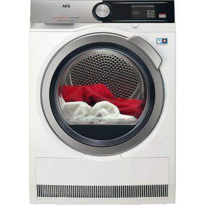 AEG AbsoluteCare Technology T8DEA866C Wifi Connected 8Kg Heat Pump Tumble Dryer - White