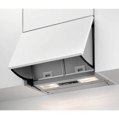 AEG DEB2631S 60cm Integrated Cooker Hood - Grey