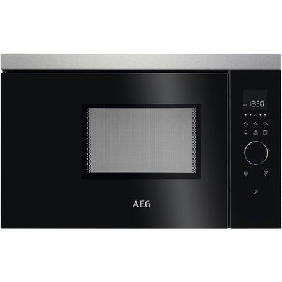 AEG MBB1756DEM 800W 17L Built-in Microwave & Grill 60cm Width Black Antifingerprin