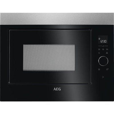 AEG MBE2658SEM Built-in Solo Microwave - Black & Stainless Steel