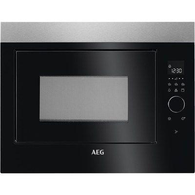 AEG MBE2658DEM Built-in Microwave & Grill - Black & AntiFingerprint Stainless Steel