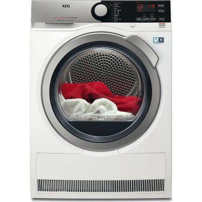 AEG AbsoluteCare T8DEE945R Heat Pump Tumble Dryer - White