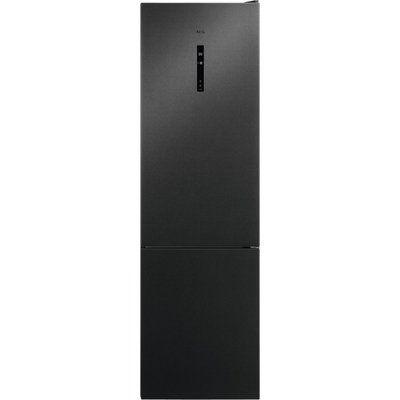 AEG RCB736E5MB CustomFlex Frost Free Freestanding Fridge Freezer - Black Stainless Steel
