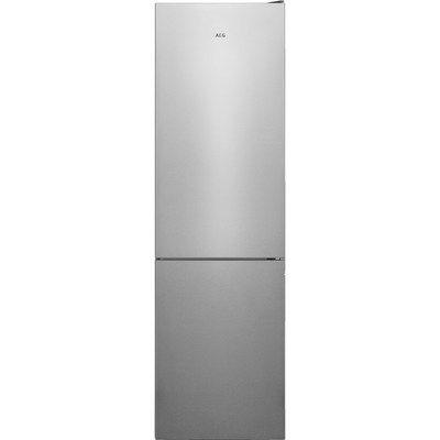 AEG RCB636E4MX CustomFlex TwinTech Freestanding Fridge Freezer - Grey With Antifingerprint Stainless Steel Doors
