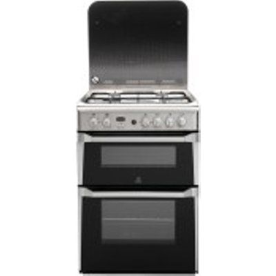 Indesit ID60G2X 4 Hob Double Gas Cooker