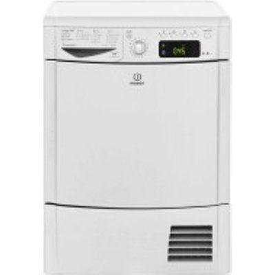 Indesit IDCE8450BSHUK 8kg Load Condenser Dryer - Silver