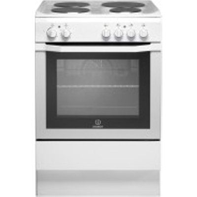 Indesit I6EVAWUK Electric Cooker with Solid Plate Hob