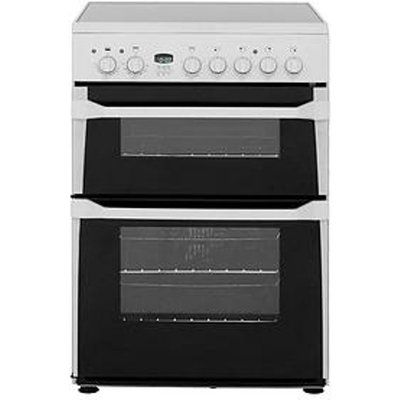 Indesit Id60C2Ws Ceramic Hob Double Oven Electric Cooker - White