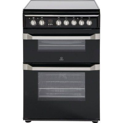 Indesit ID60C2KS 60 cm Electric Ceramic Cooker - Black & Stainless Steel