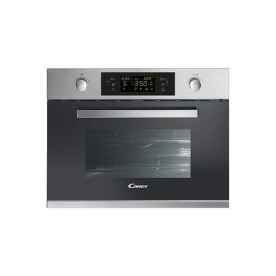 Candy MIC440VTX 900W 44L Compact Height Built-in Microwave Oven And Grill - Stainless Steel