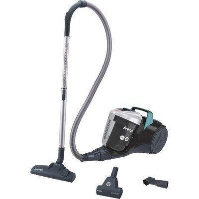 Hoover Breeze Pets BR71 BR02 Cylinder Bagless Vacuum Cleaner - Black & Grey