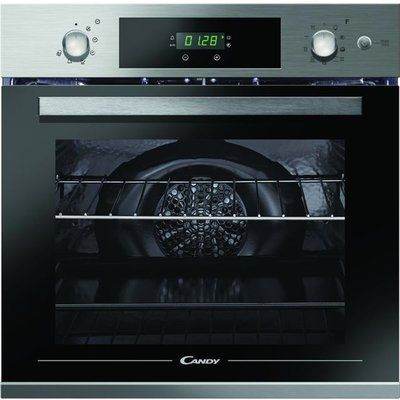 Candy FCPKS816X 70L Electric Single Oven With Pyrolytic Cleaning - Stainless Steel