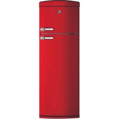 Hoover HVRDS6172RKH 304 Litre Freestanding Fridge Freezer Retro 80/20 Split A+ Energy Rating 60cm Wide - Red