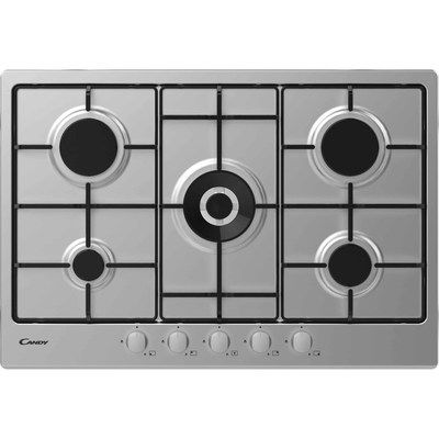 Candy CHW74WX 75cm Five Burner Gas Hob - Stainless Steel