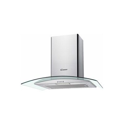 Candy CGM64/1X 60cm Chimney Cooker Hood With Curved Glass Canopy - Stainless Steel