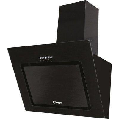 Candy CVMAD60/1N 60 cm Angled Chimney Cooker Hood - Black