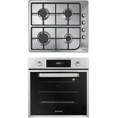 Hoover HPRGM60SS 60cm Built-In Electric Single Oven and Gas Hob Pack