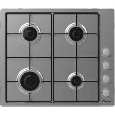 Candy CHW6LX 60cm Four Burner Gas Hob - Stainless Steel