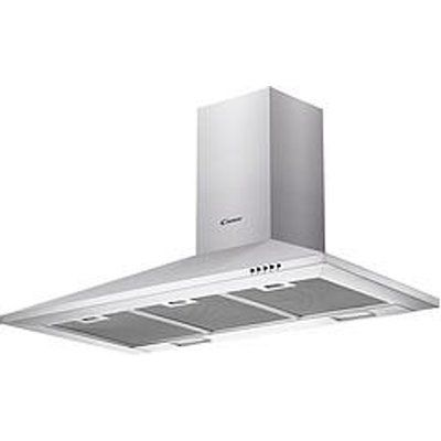 Candy CCE119/1X 90cm Chimney Cooker Hood - Stainless Steel