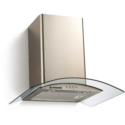 Hoover HGM600X 60cm Chimney Cooker Hood With Curved Glass Canopy - Stainless Steel