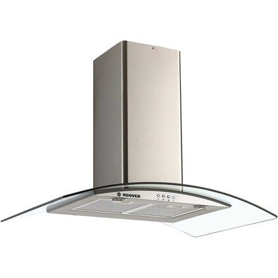 Hoover HGM900X 90cm Chimney Cooker Hood With Curved Glass Canopy - Stainless Steel