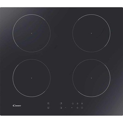 Candy CI642CTT 59cm Touch Control Induction Hob - Black - Works With A 13A Connection