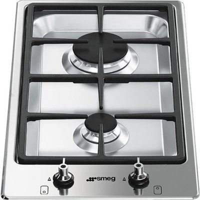 Smeg Classic PGF32G Domino Gas Hob - Stainless Steel