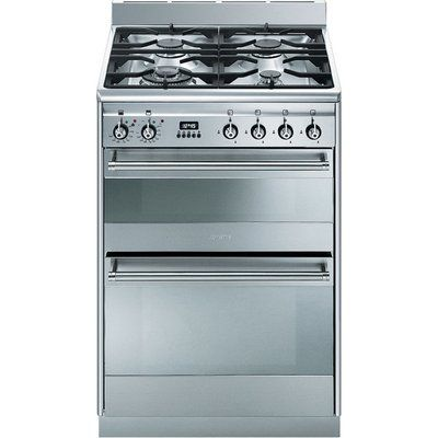 Smeg Concert 60 Dual Fuel Cooker - Stainless Steel