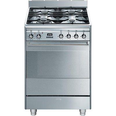 Smeg SUK61PX8 60 cm Dual Fuel Cooker - Stainless Steel