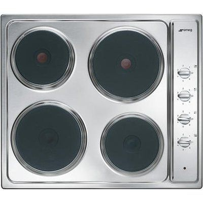 Smeg Cucina SE435S Electric Solid Plate Hob - Stainless Steel