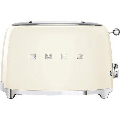 Smeg 50s Retro TSF01CRUK 2-Slice Toaster - Cream