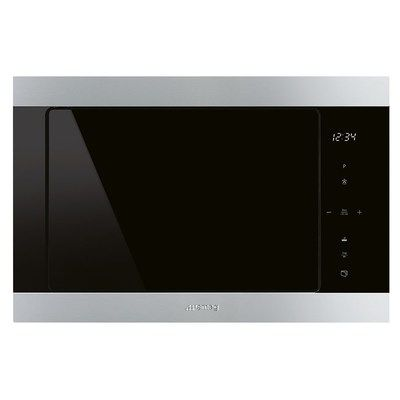Smeg FMI325X 25L Classic Built-in Microwave with Grill Stainless Steel