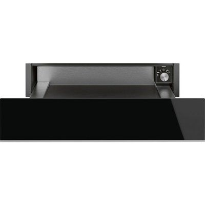 Smeg Dolce Stil Novo CPR615NX Built In Warming Drawer - Black / Stainless Steel