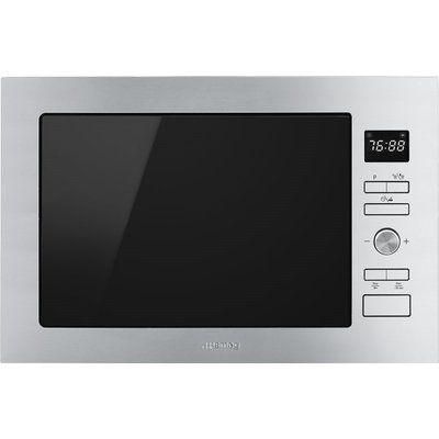 Smeg FMI425X Cucina 25L Built-in Microwave Oven And Grill - Stainless Steel