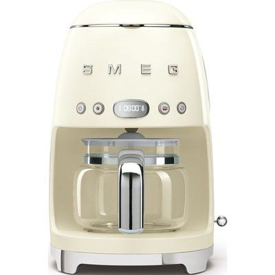 Smeg 50s Retro DCF02PBUK Filter Coffee Machine - Cream