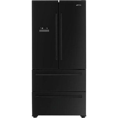 Smeg FQ55FNDF American Fridge Freezer - Black