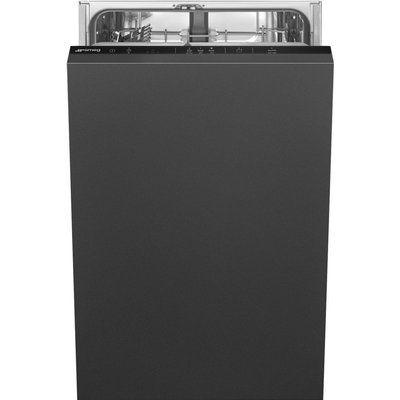 Smeg DI4522 Fully Integrated Slimline Dishwasher - Black Control Panel