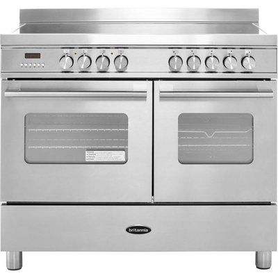Britannia Delphi RC-10TI-DE-S 100cm Electric Range Cooker with Induction Hob - Stainless Steel