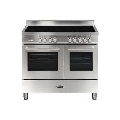 Britannia Q Line Modern 100cm Double Oven Induction Electric Range Cooker - Stainless Steel