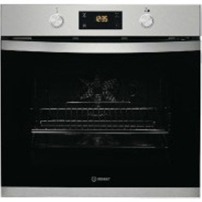 Indesit Aria KFW3841JHIXUK 71L Built-In Electric Single Oven