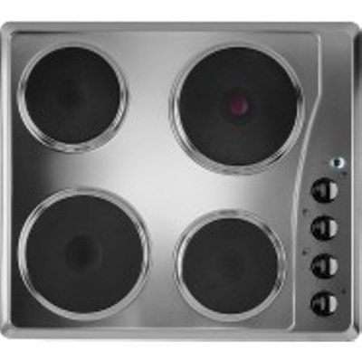 Indesit TI60X 580mm Built-In 4 Solid Plate Hob