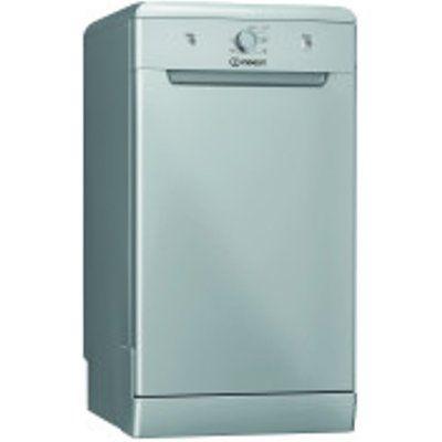 Indesit DSFE 1B10 S UK 10 Place Setting Slimline Dishwasher - Silver