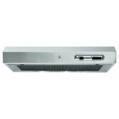 Indesit ISLK66LSX 60cm Conventional Cooker Hood - Stainless Steel