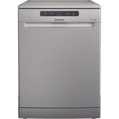 Indesit DFC2B+16SUK Standard Dishwasher - Stainless Steel