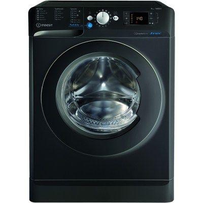 INDESIT BWE91483XKUKN 9kg 1400rpm Freestanding Washing Machine - Black